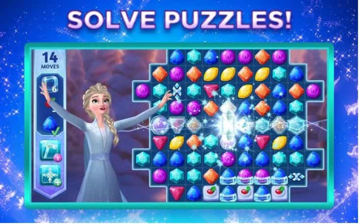 Disney Frozen Adventures Apk MOD, Unlimited Hearts/Boosters - Game giải đố cho điện thoại