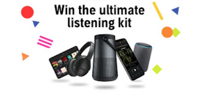 Win the Ultimate Listening Kit, picture of selected prizes