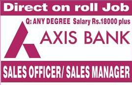 12th Pass/Graduate/Post Graduate Job Opening For Field Sales Officer At Axis Bank On Partner Payroll For Ahmedabad & Gandhinagar Location