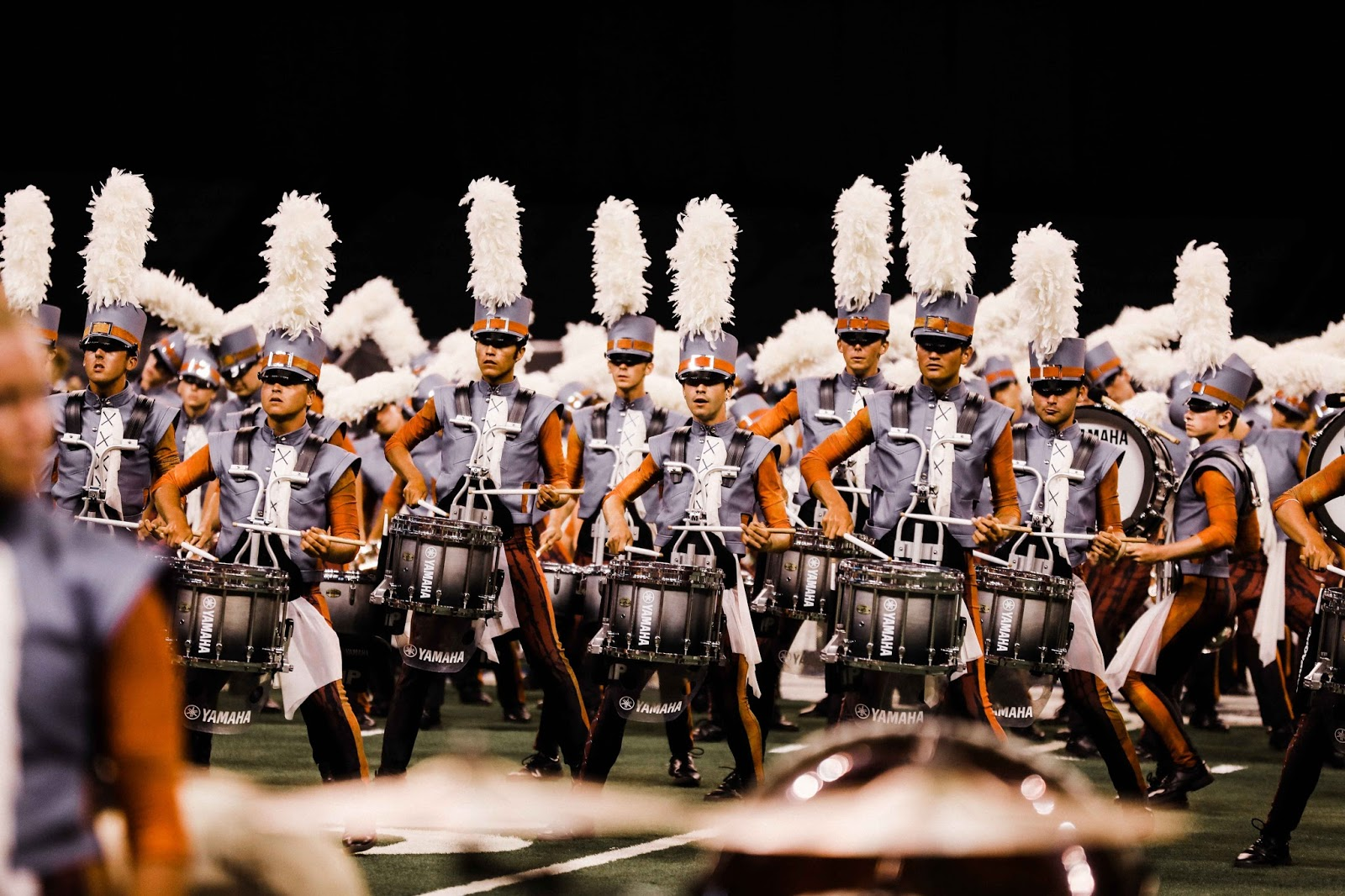 Boston Crusaders' drumline performs at DCI World Finals