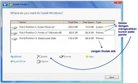 Panduan Cara Instal Windows 7 Dengan USB Flashdisk, Hardisk, CD di PC/Laptop