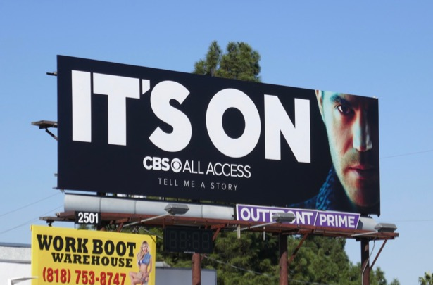 Its On CBS All Access Tell Me A Story billboard