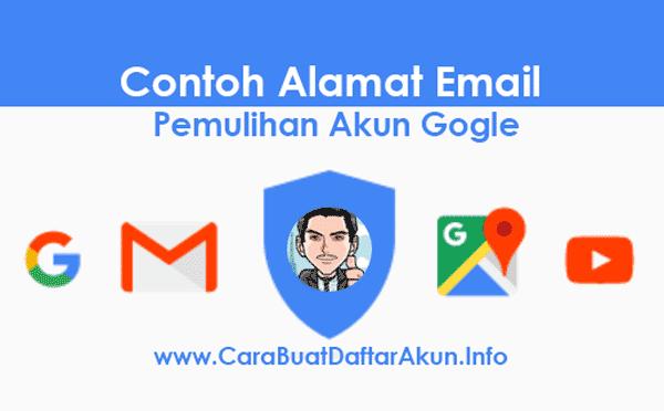 Contoh Cara Buat Alamat Email Pemulihan untuk Akun Google