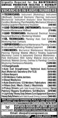 Latest Maintenance Project jobs in Kuwait