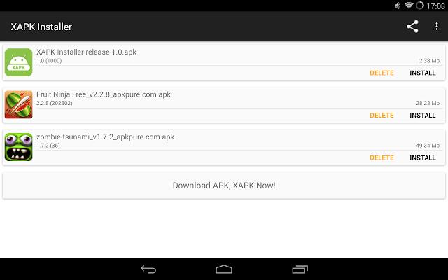 تحميل تطبيق XAPK لتثبيت الملفات الكبيرة