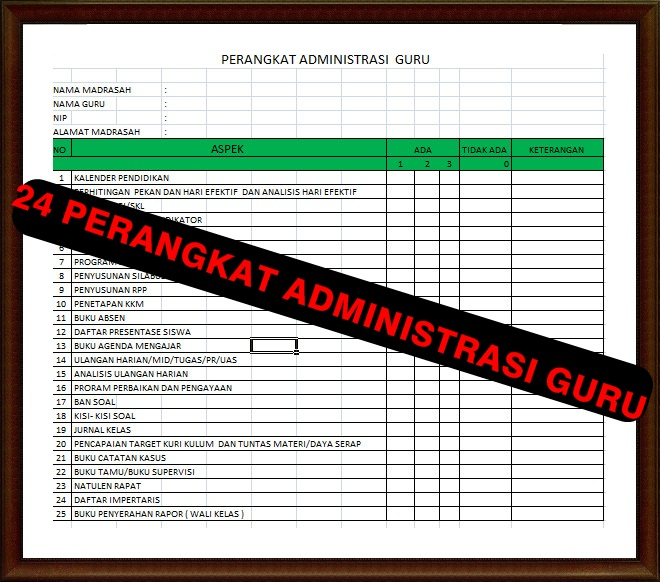 Download Kumpulan Perangkat Admnistrasi Guru Lengkap Dalam Satu File