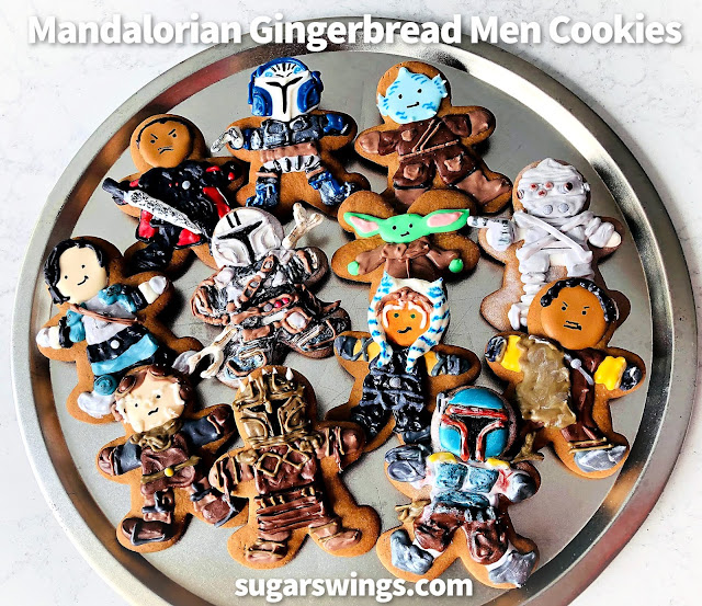 Mandalorian Gingerbread Men Cookies