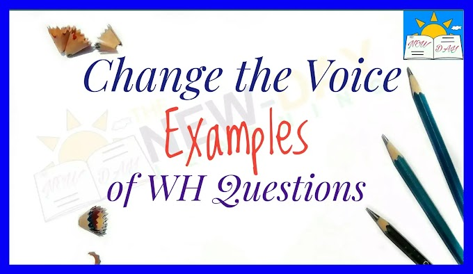 150+ Examples of Active and Passive Voice of WH Questions | Change the Voice of WH Questions- Examples