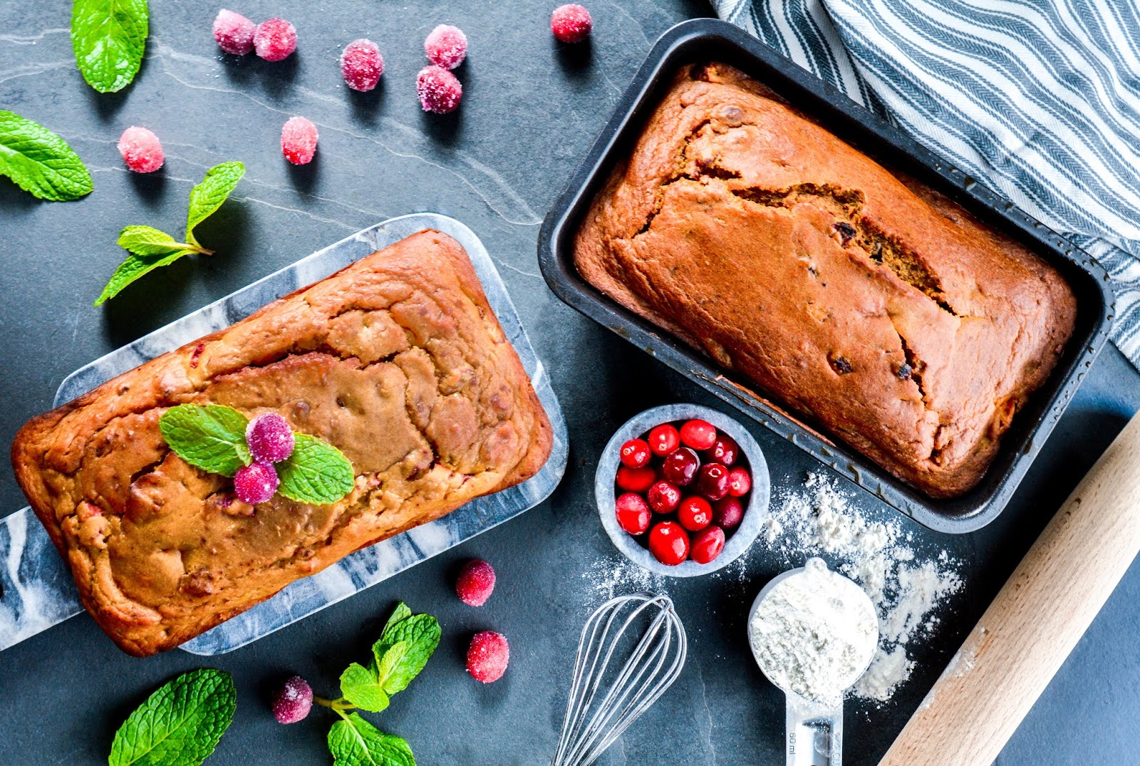 Sugar Free Cranberry Pumpkin Bread
