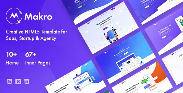 Multipurpose HTML5 Template For Saas & Startup