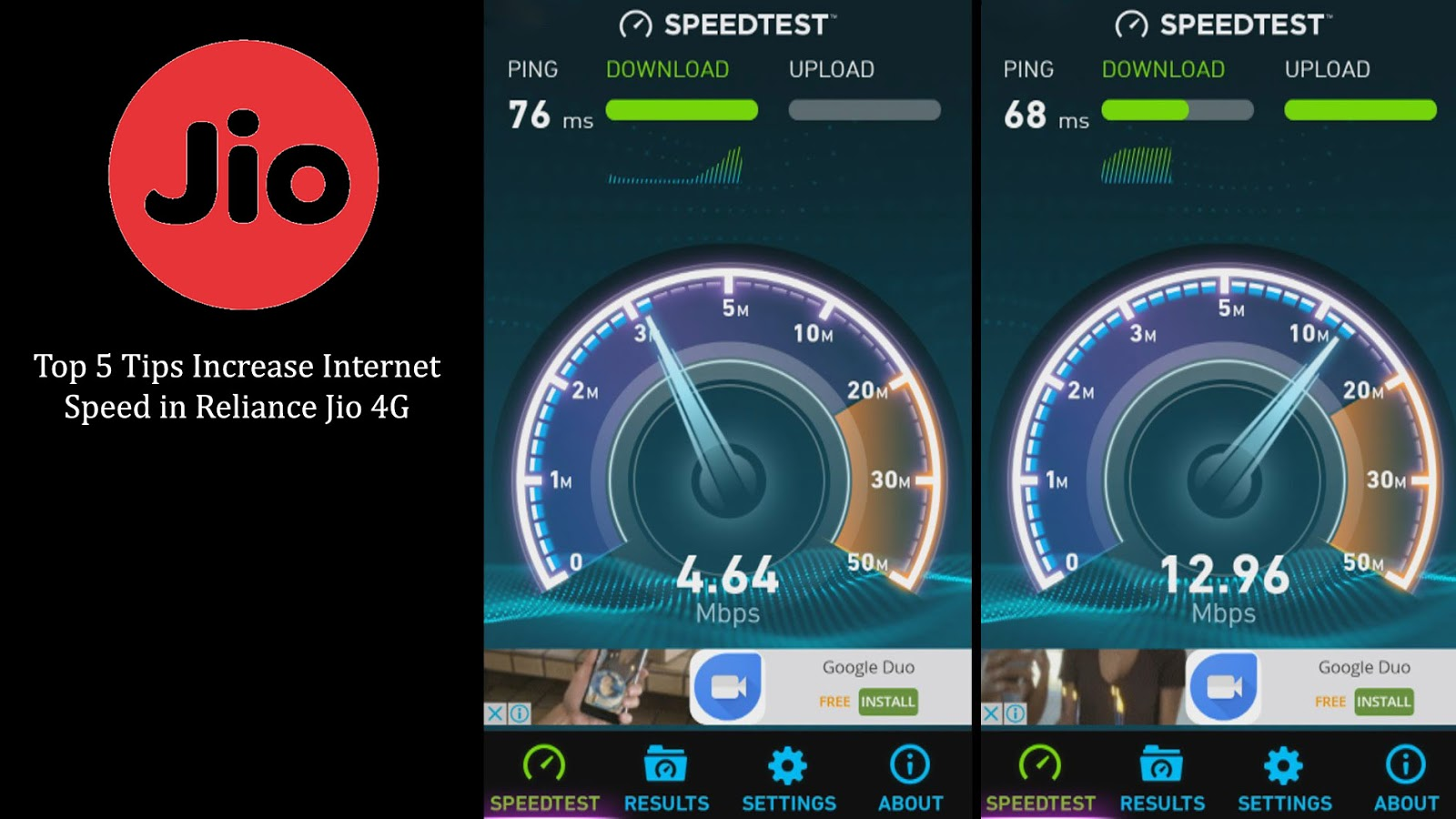 Top 5 Tips Increase Internet Speed in Reliance Jio 4G