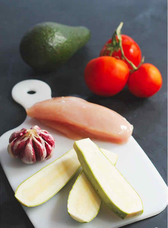 """How to make Grilled Chicken Bruschetta on Zucchini """"Toast"""""""
