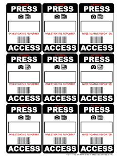 Free printable DIY press passes  |  www.3Garnets2Sapphires.com