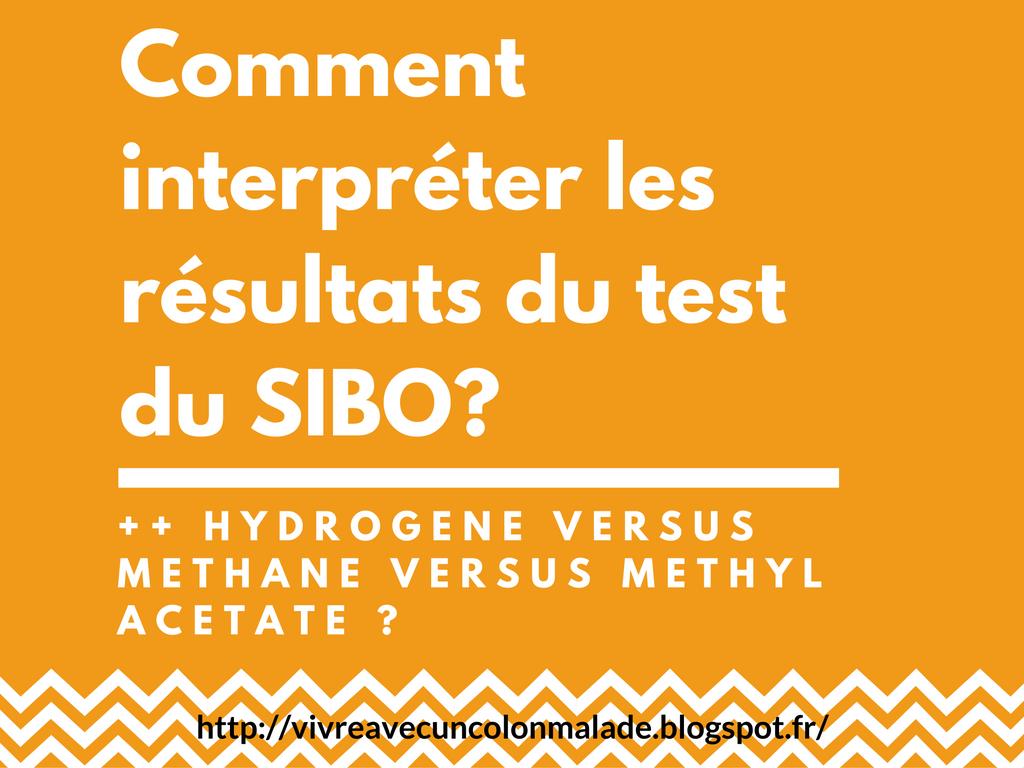 interpréter résultats du test respiratoire du SIBO hydrogène methyl acétate méthane