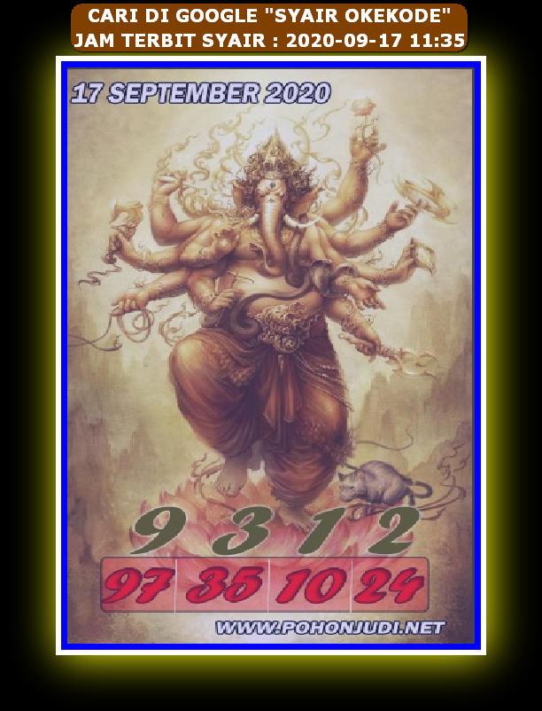 Kode syair Hongkong Kamis 17 September 2020 252