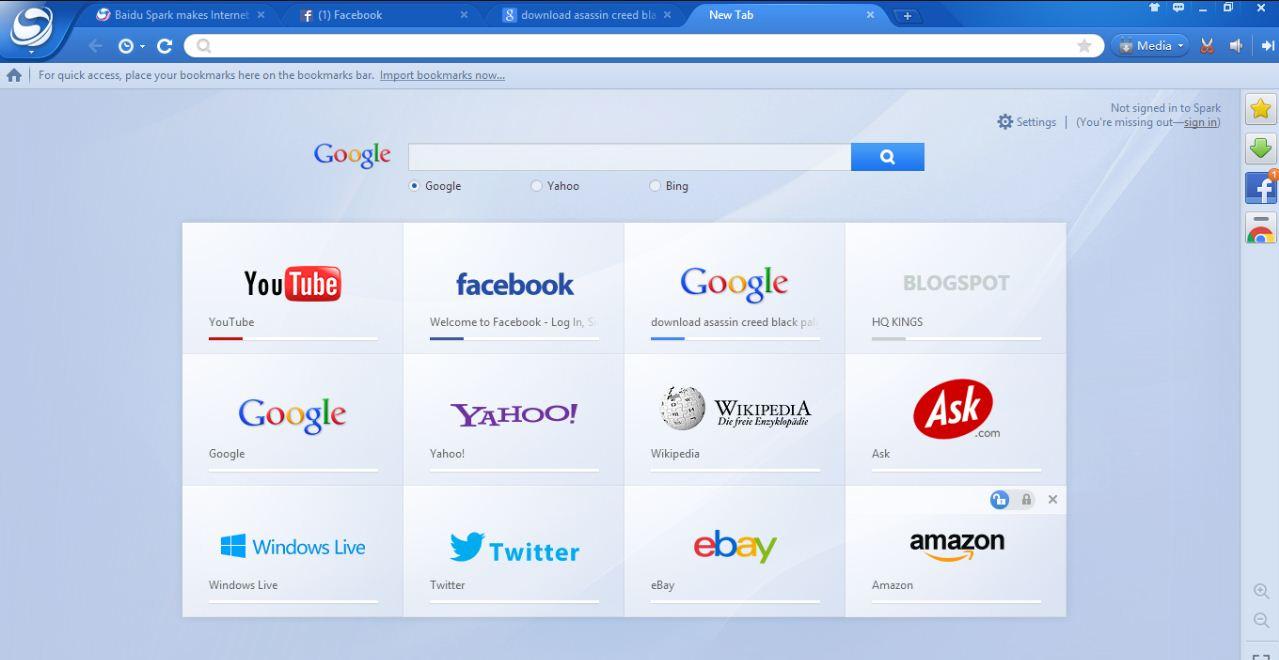 baidu spark browser عربي