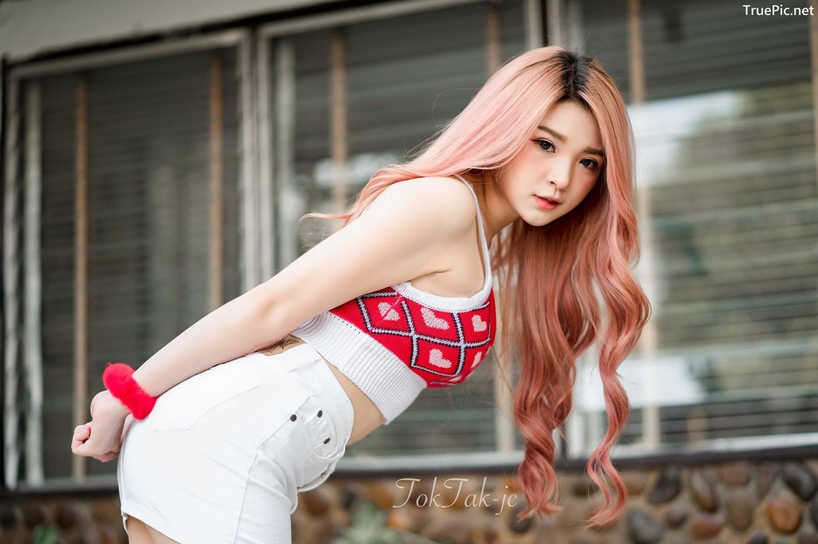 Image Thailand Model - JaJaa Zarinyap - Crop Top and Sort Pants - TruePic.net - Picture-7