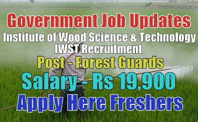 IWST Recruitment 2020