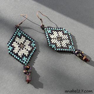купить серьги из бисера купить украшения из бисера в этническом стиле