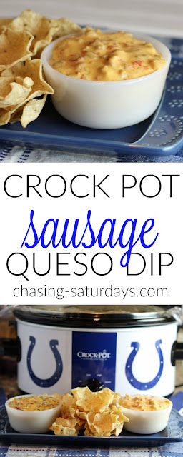 Crock Pot Sausage Queso Dips, Chasing Saturdays
