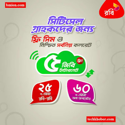 Robi-Offers-Free-SIM-For-Citycell-Users-5GB-Data-Free-Lowest-Call-Rates