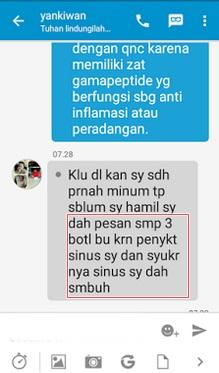 Image result for testimoni QNC JELLY GAMAT obat herbal mimisan berkepanjangan