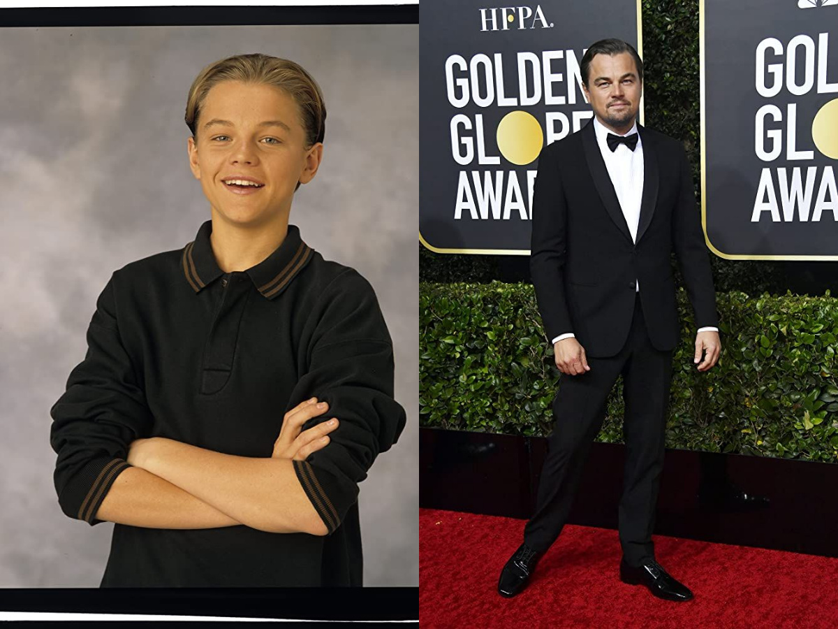 Leonardo DiCaprio then and now