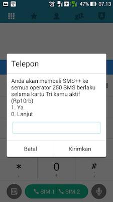 paket sms tri 250 rp10000 berlaku selama kartu tri aktif