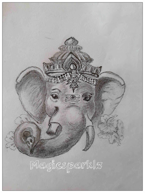 Ganesha Pencil Sketch