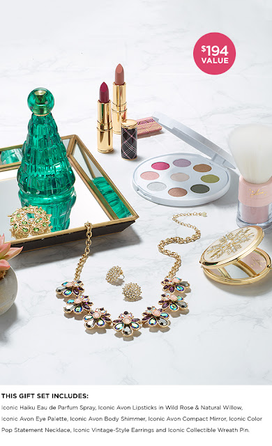 Avon wants you to be all ready for the Holidays, so they're giving you a chance to enter once to win their glam iconic collection including makeup, scents to just make you sparkle!