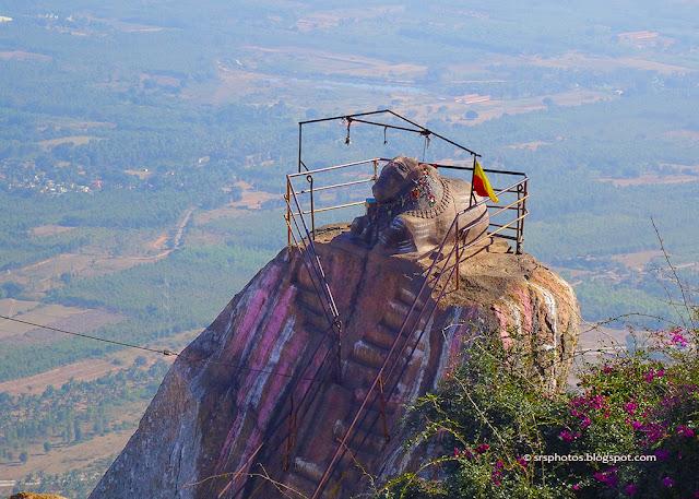 Nandi at the top of the Shivaganga Hills, Bangalore