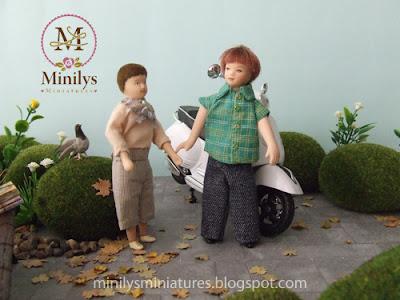 """""""minilys miniatures"""" """"garden"""" """"dolls"""" 1:12 fairy tales"""