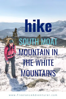 hike south moat mountain in winter
