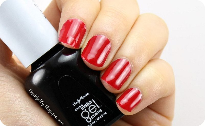 Liquid Jelly: Sally Hansen Salon Insta-Gel Strips Starter Kit Review