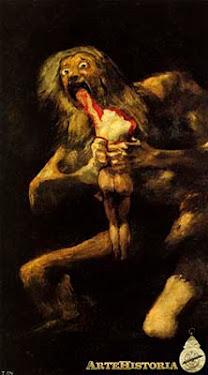 Saturno devorando a sus hijos [Francisco de Goya (Museo del Prado)]