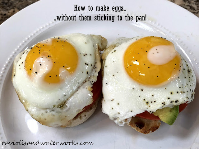 How to make eggs without them sticking to the pan.