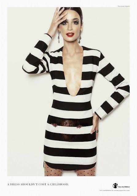 vestido de protesta - Alto a la explotación infantil en la industria de la moda