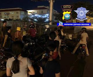 Antisipasi Balap Liar Satlantas Polresta Barelang Amankan Puluhan Sepeda Motor