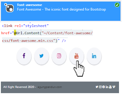 Font-Awesome ASP NET