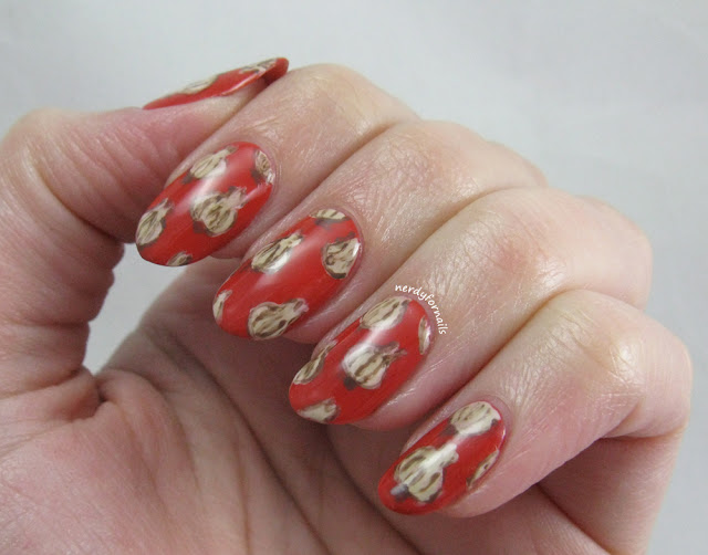 National Garlic Day Garlic Pattern Nails