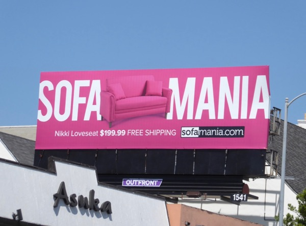 Pink Sofamania Nikki Loveseat billboard