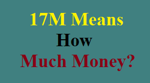 17M Means How Much Money