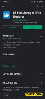 تطبيق ES File Manager | File Explorer