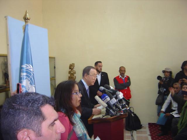 الامين العام للامم المتحدة يشيد بالاستقبال الشعبي الكبير الذي خصه به الشعب الصحراوي