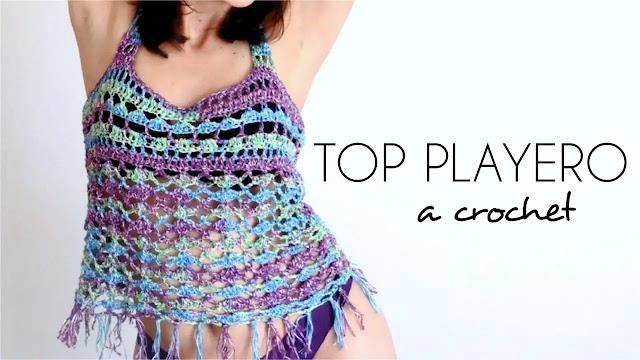 Tutorial de Top Playero Tejido a Crochet