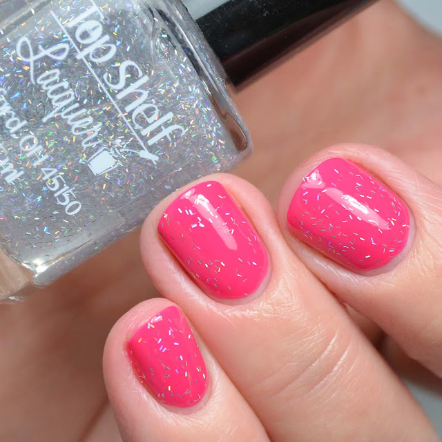 holo bar glitter nail polish swatch