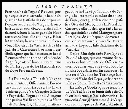 Fragmento de una página del Libro de la Montería de Alfonso XI de Castilla