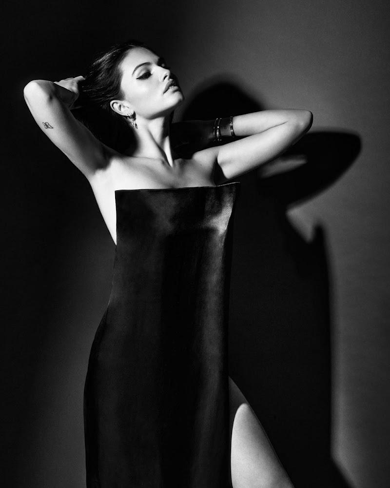 Thylane Blondeau– Black and White Photoshoot May-2021