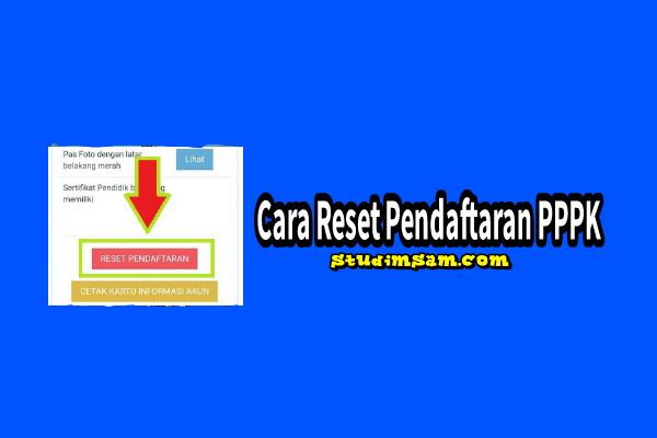 cara reset pendaftaran pppk