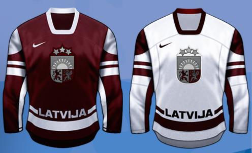 Форма сборной Латвии на Олимпиаде 2010 Ванкувер